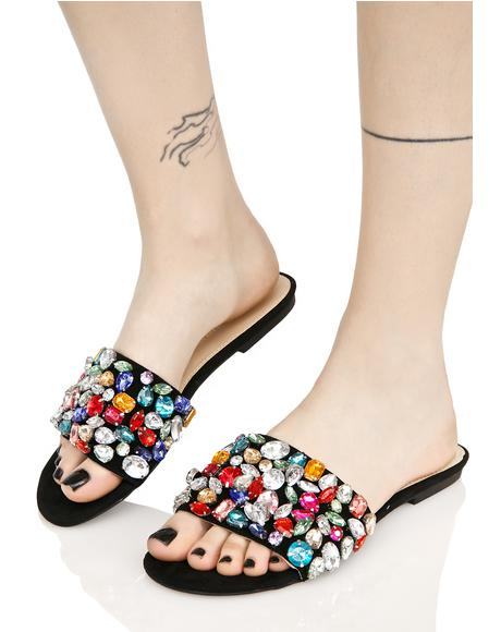 Nightfall Dazzle Jeweled Slides