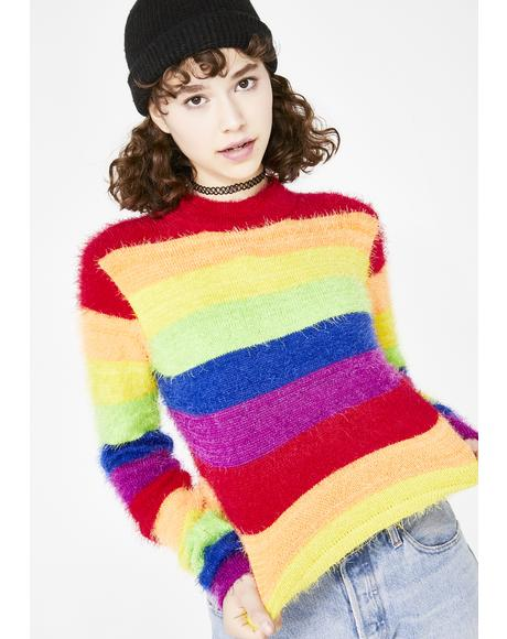 Dream In Color Fuzzy Sweater
