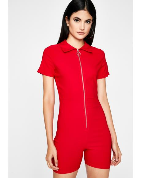 Cherry Baby It's You Zip-Up Romper