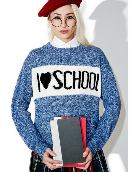 School Holiday Tardy Sweater
