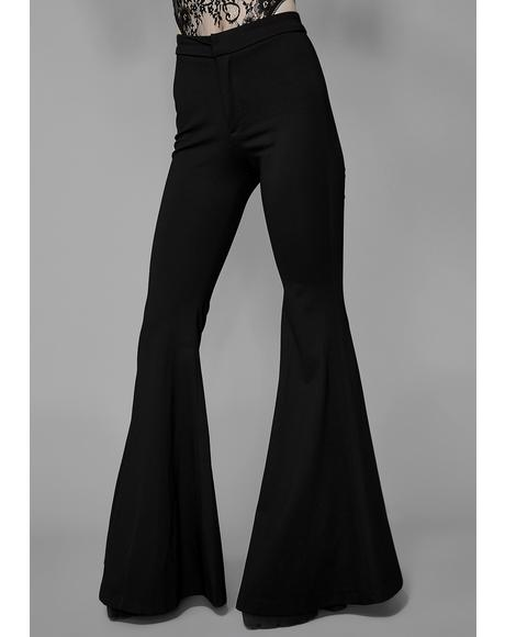 Black Dahlia Bell Bottoms