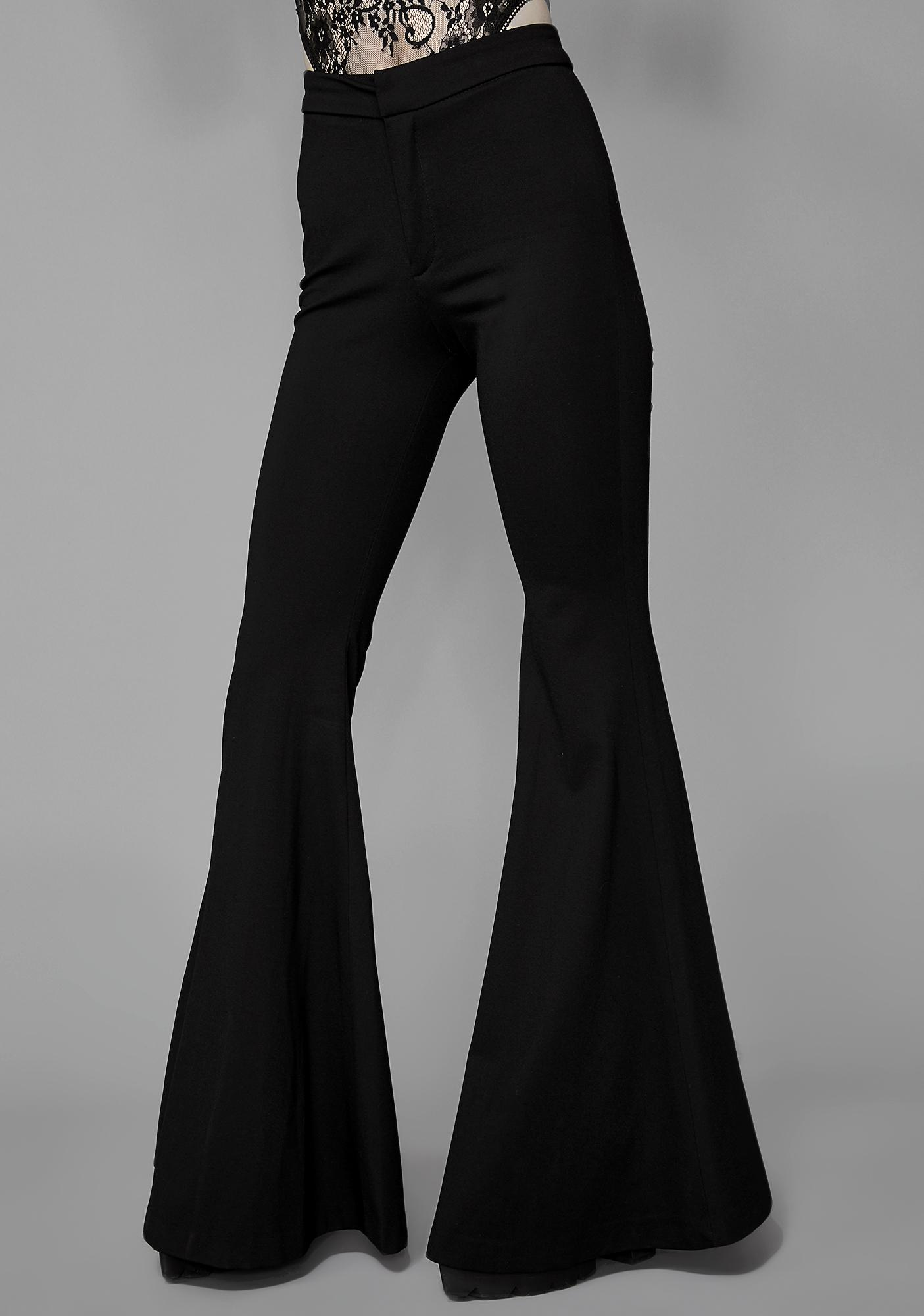 Widow Black Dahlia Bell Bottoms