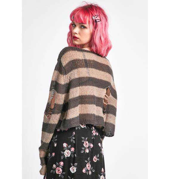 dELiA*s by Dolls Kill Dig On This Crop Sweater