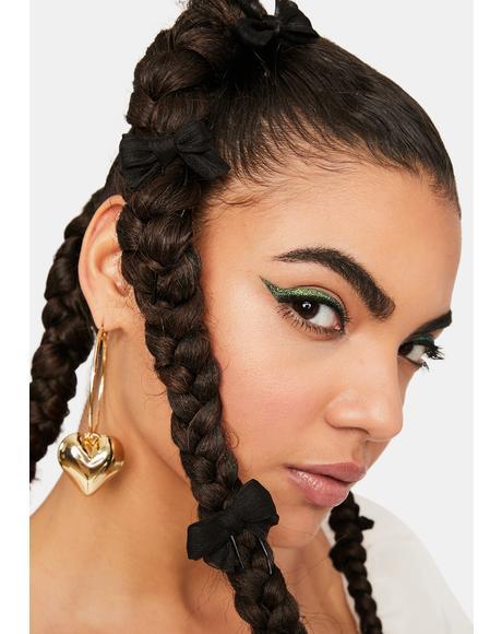 Dark Serenity 5-Piece Bow Hair Pins Set