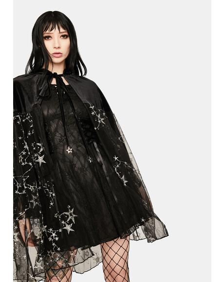 Mesh Glitter Kimono