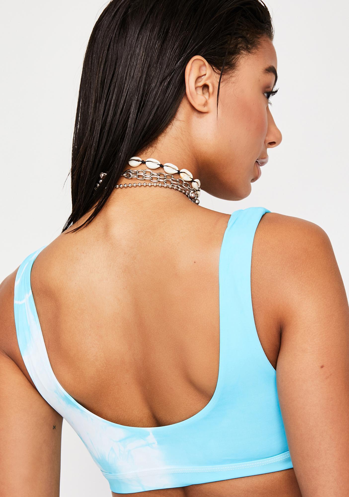 Dippin' Daisy's Crystal Seamless Sports Bra Bikini Top
