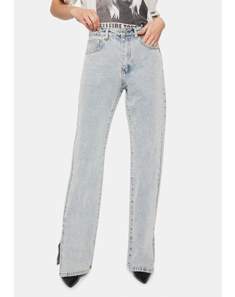Close To You Slit Leg Jeans