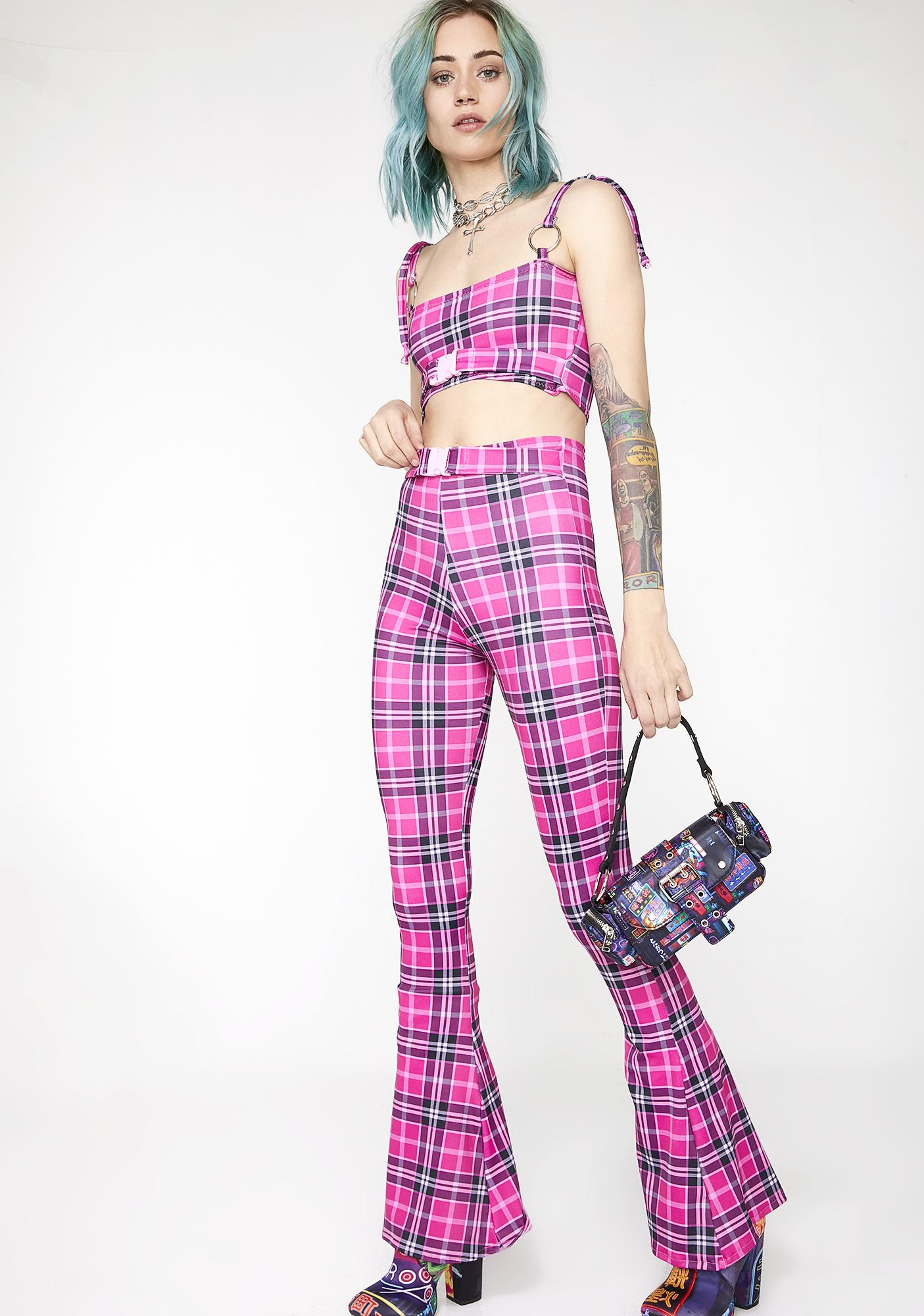 Babydol Clothing Pixie Tartan Flares
