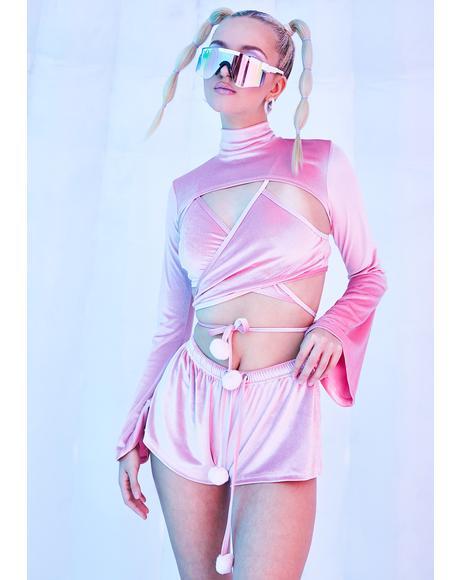Rave Bunny Velvet Shorts