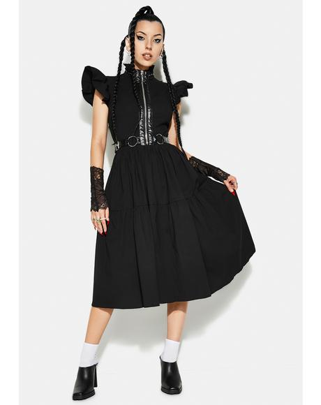 Rebellious Girl Midi Dress