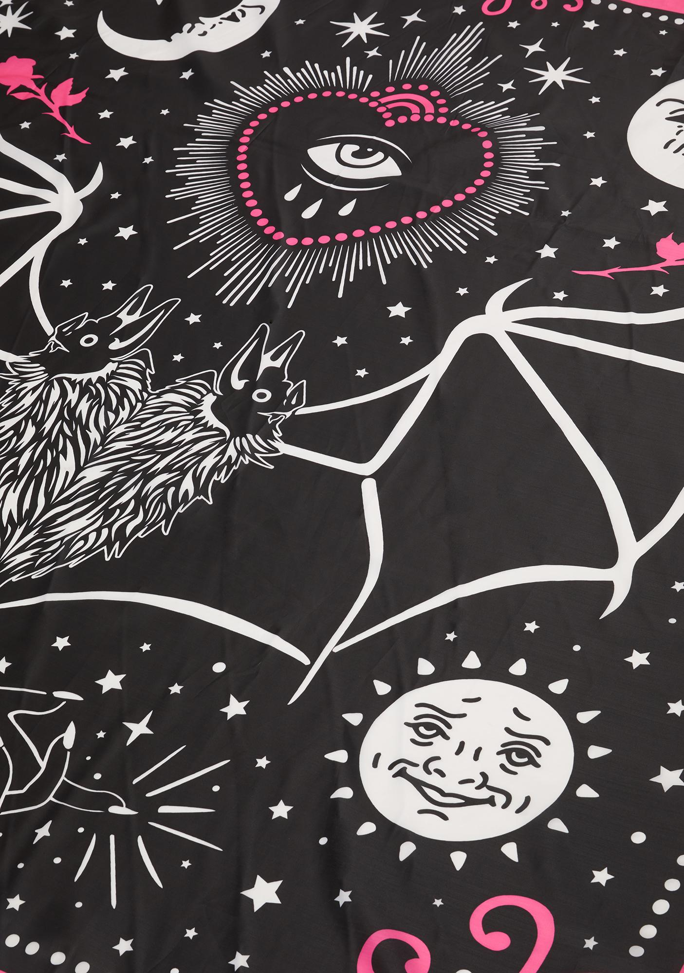 Too Fast All Seeing Eye Bat Mystical Magic Shower Curtain