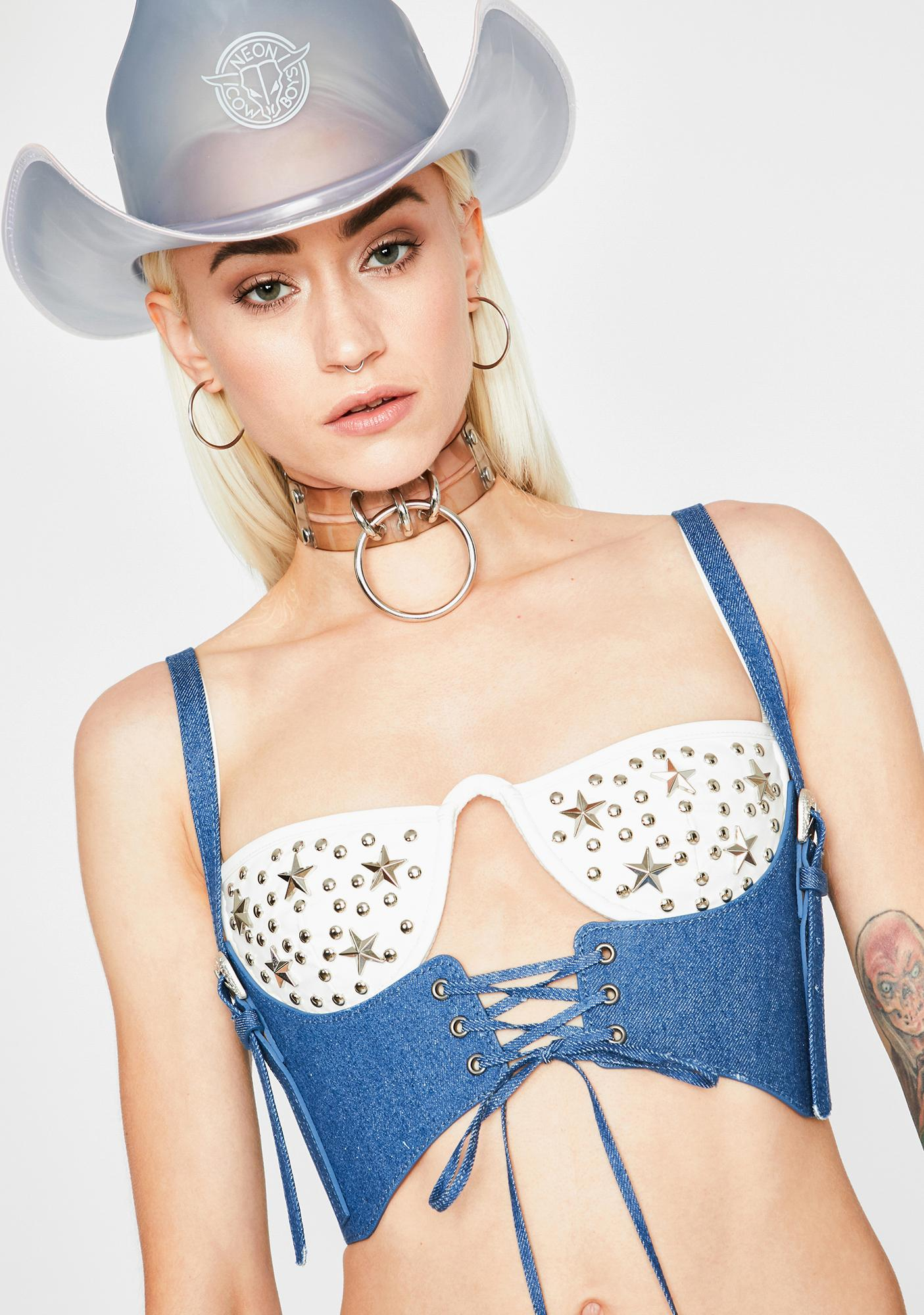 Ride On Lace Up Bustier
