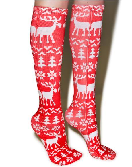 Merry Moose Socks