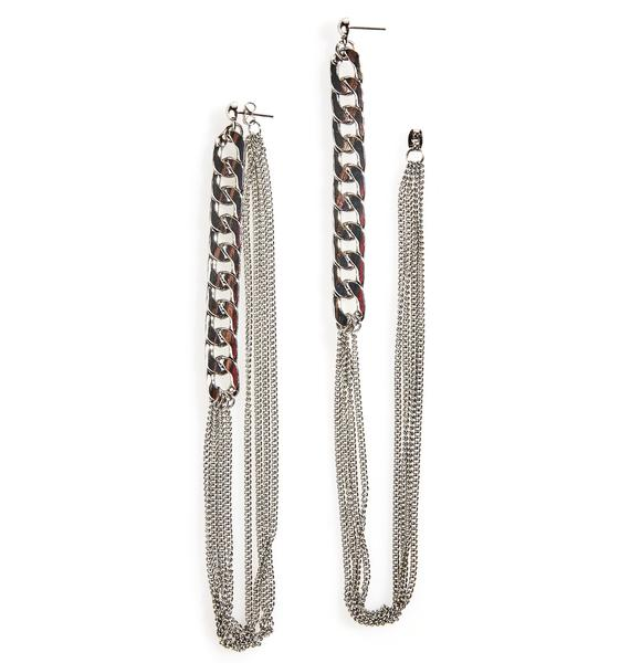 Compulsion Chained Earrings