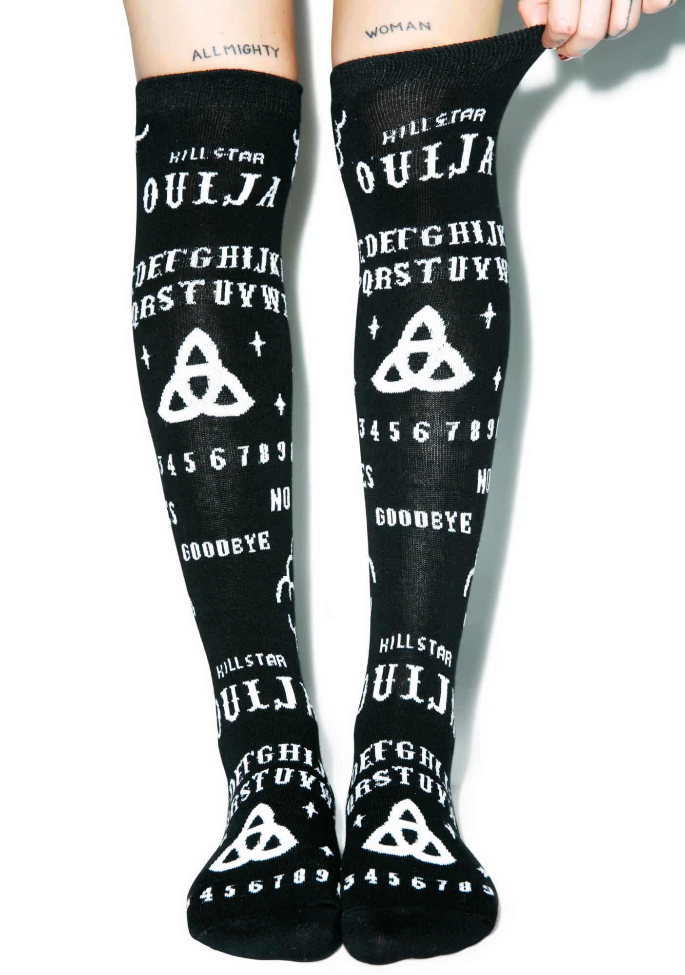 Killstar Ouija Over The Knee Socks