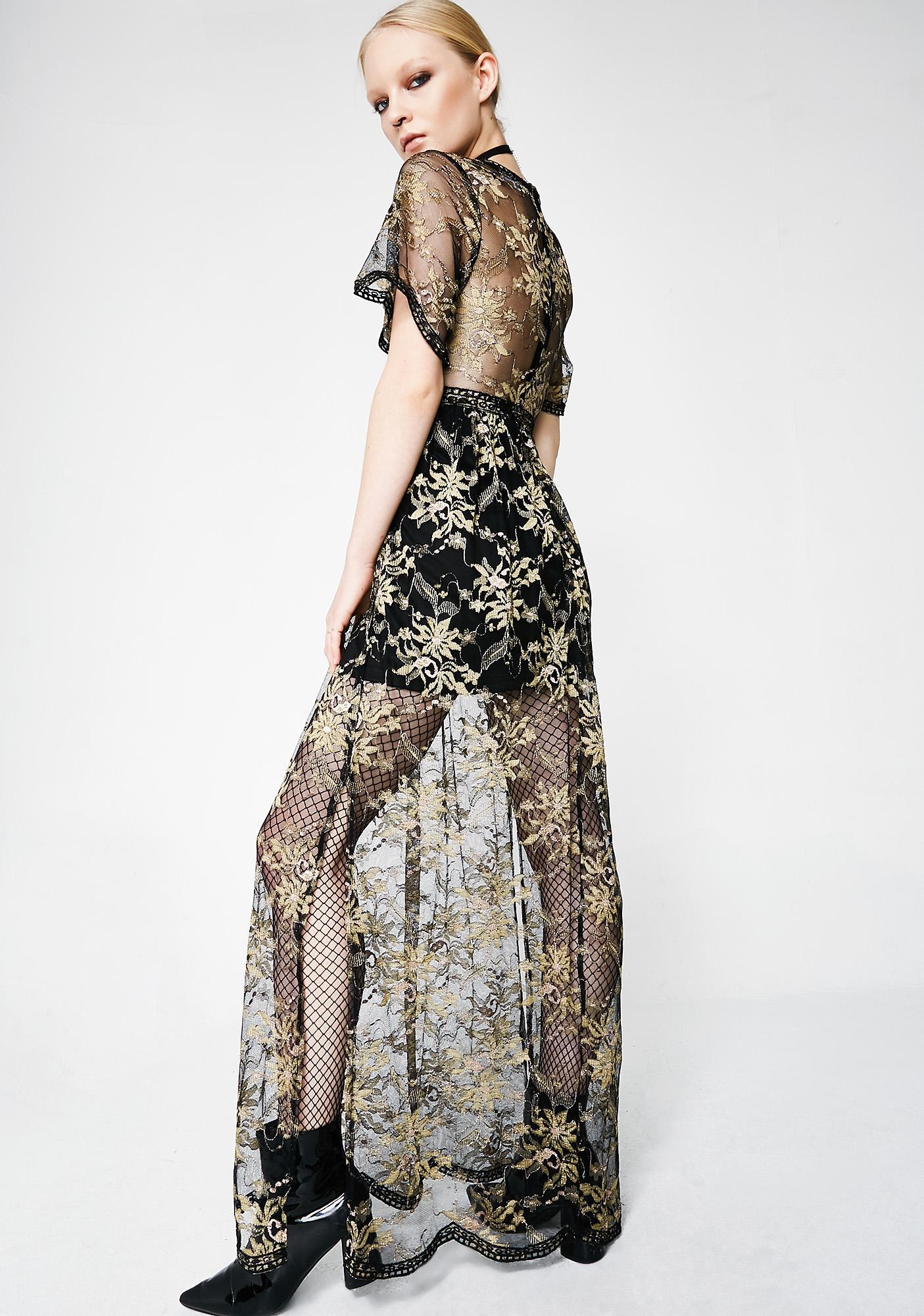 Sheer Elegance Floral Dress