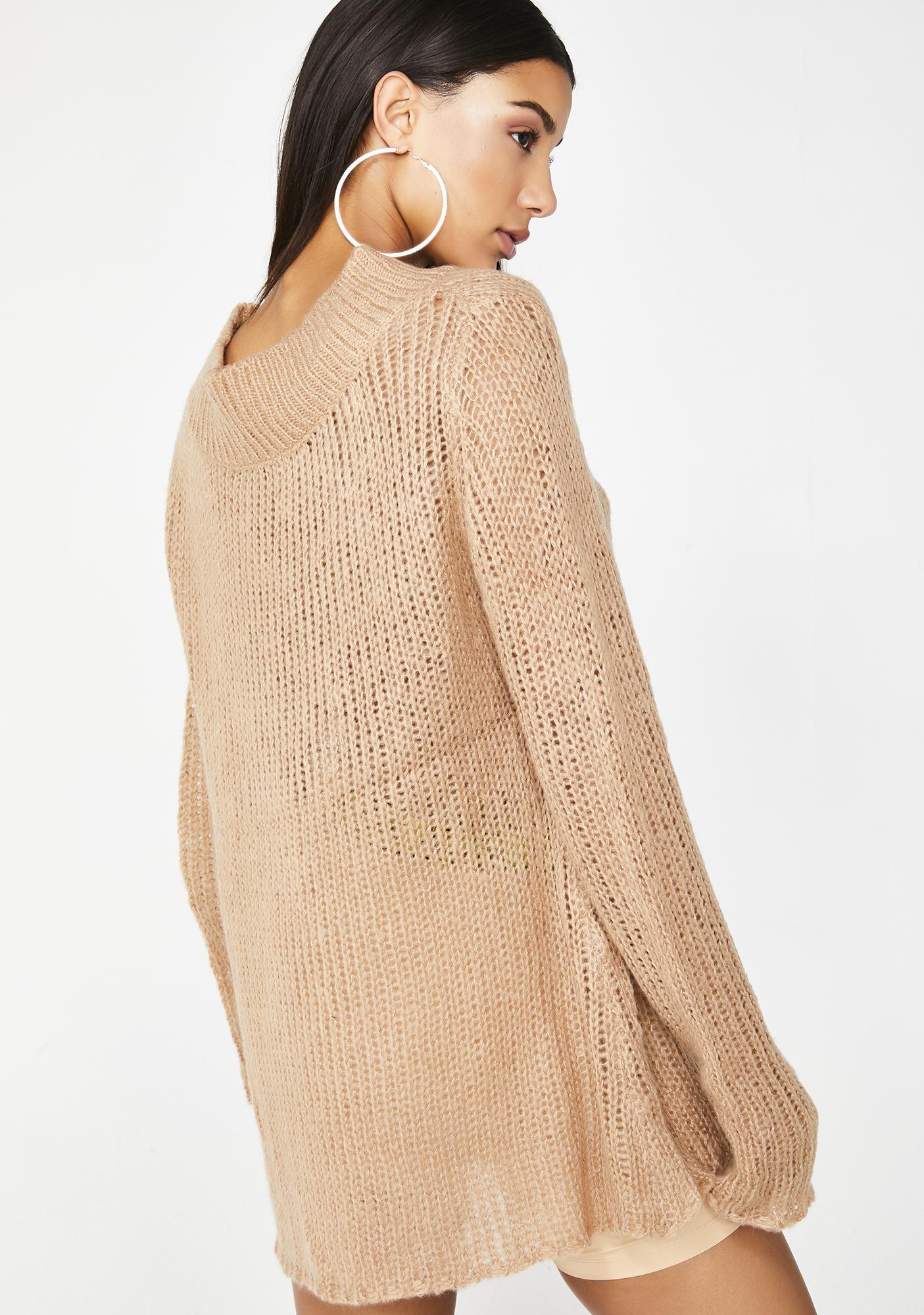 Poster Grl Strike It Rich Knit Sweater