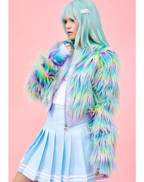 Pixie Garden Faux Fur Jacket