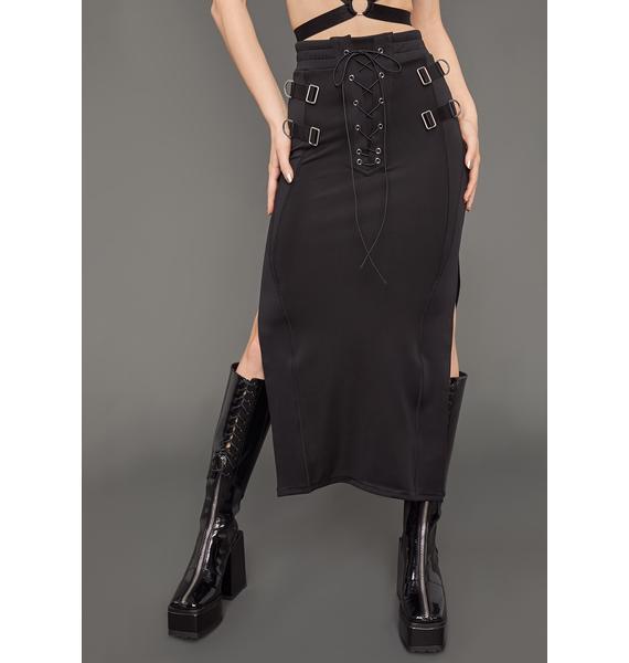 Poster Grl Tied Up Midi Skirt