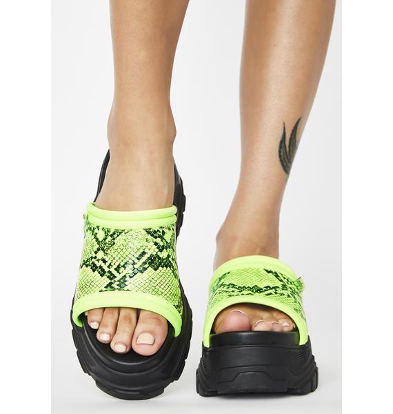 Buffalo GLDR OT Platform Sandals