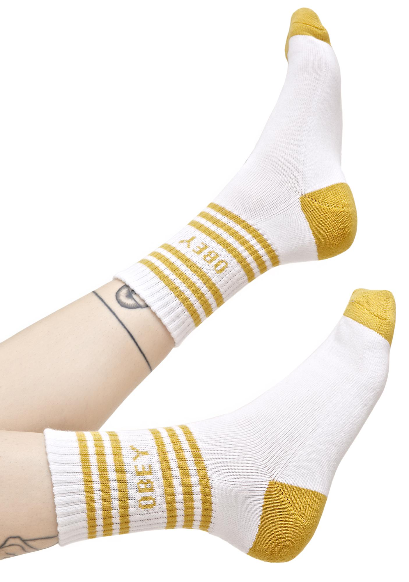 Obey Golden Taylor Crew Socks