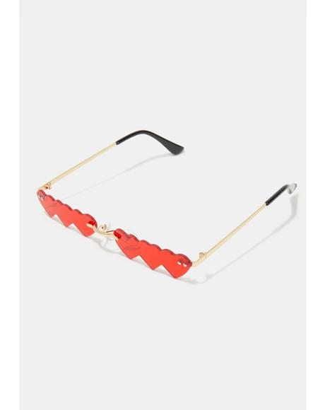 Fire Triple Threatz Heart Sunglasses