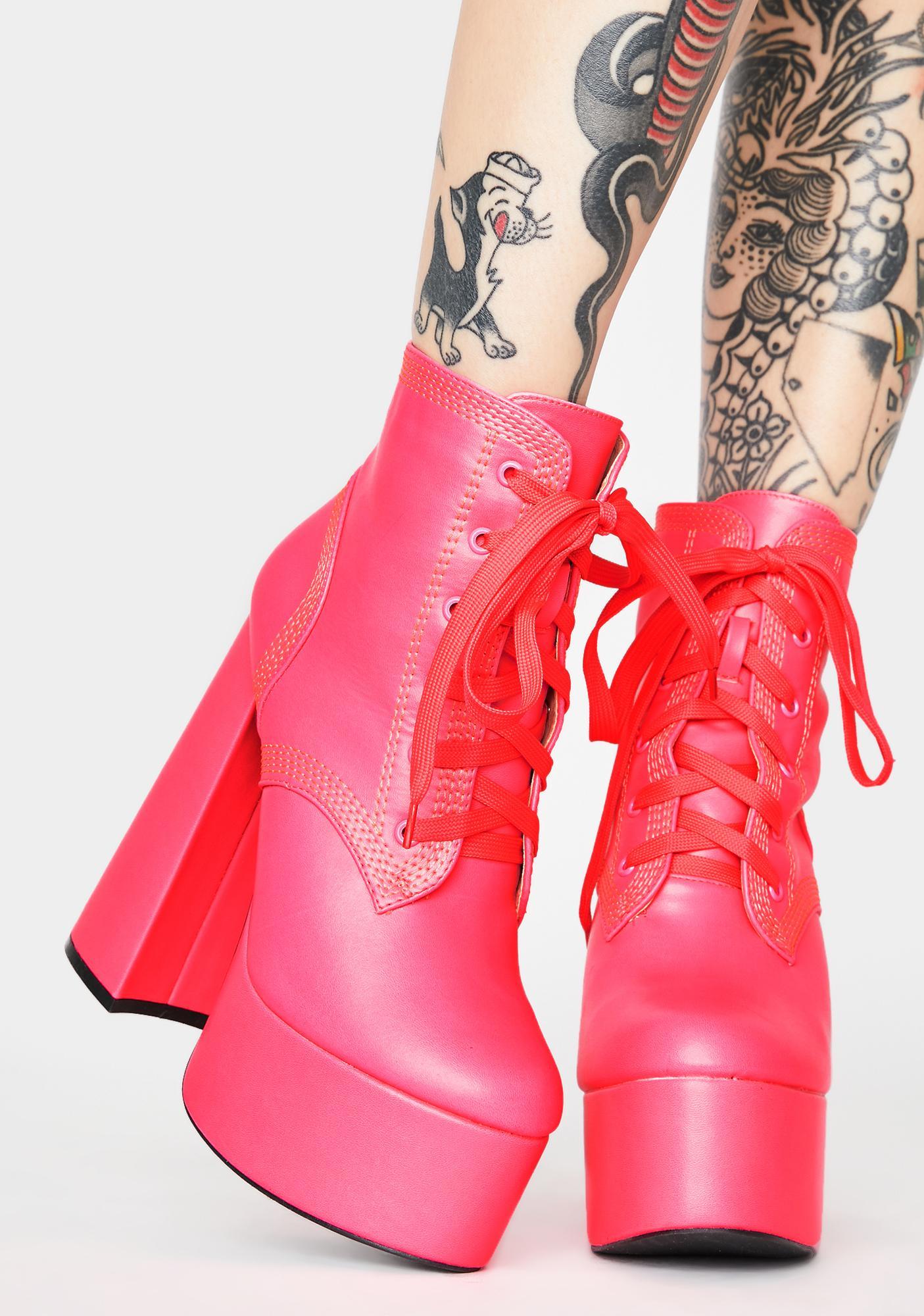Baby Gimme A Shot Platform Boots