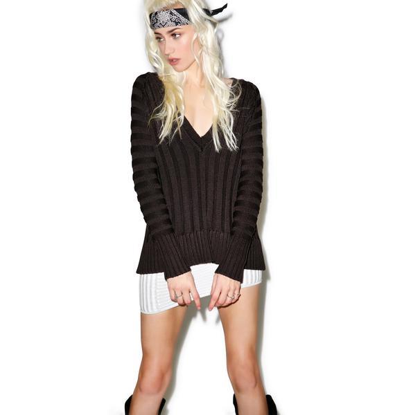For Love & Lemons Ashley Silk Raglan Sweater