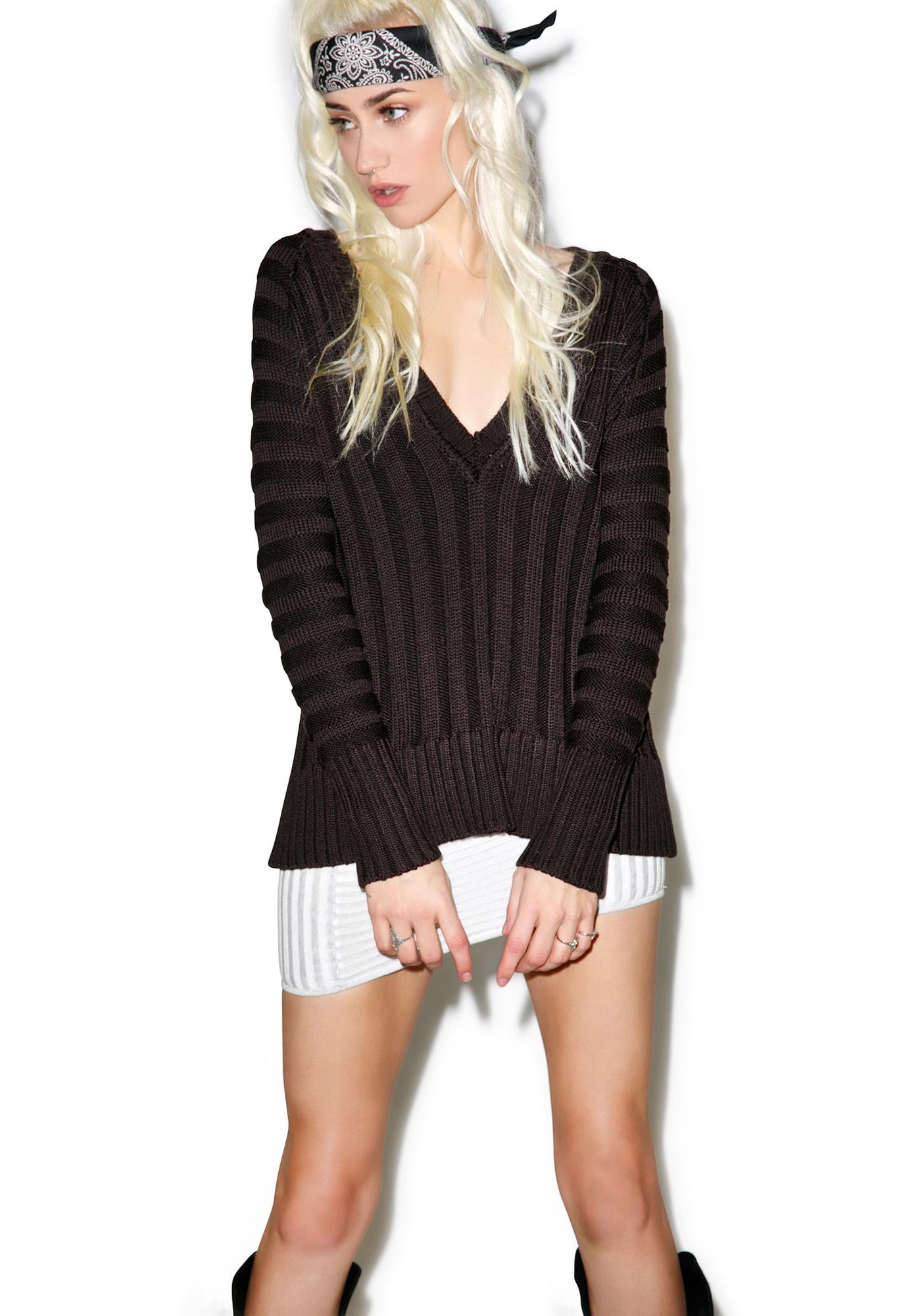For Love & Lemons Ashley Silk Raglan Sweater