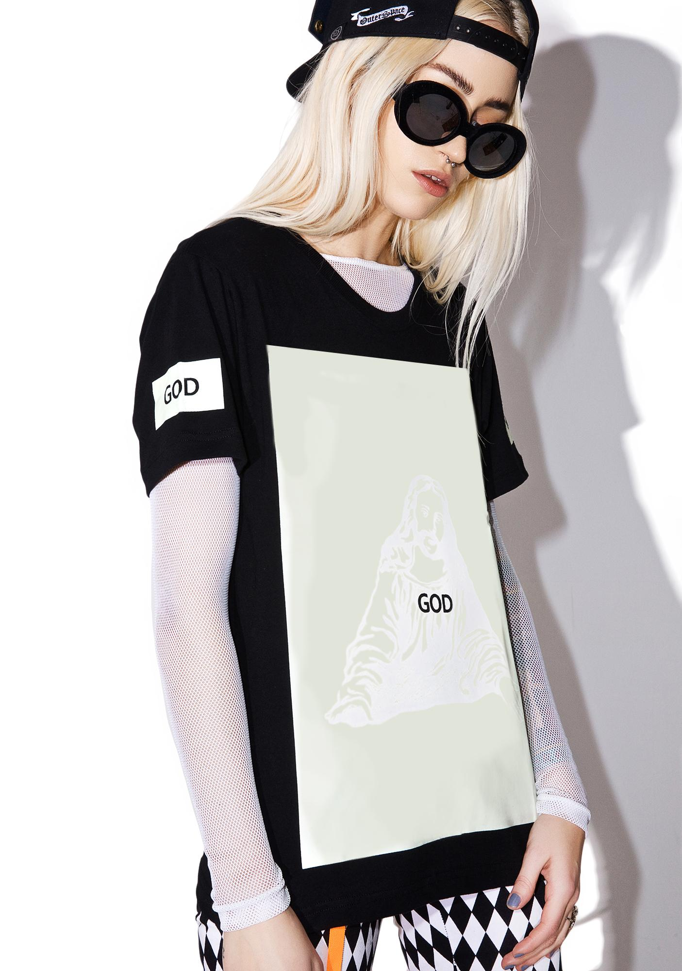 OUTERSPACE Jesus Glow Tee