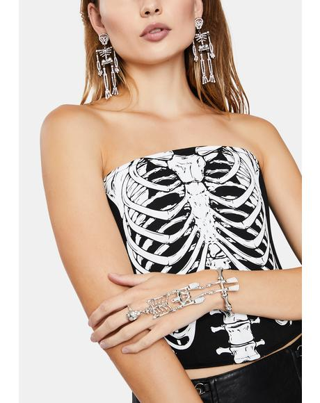 Sticks N Bones Skeleton Hand Cuff
