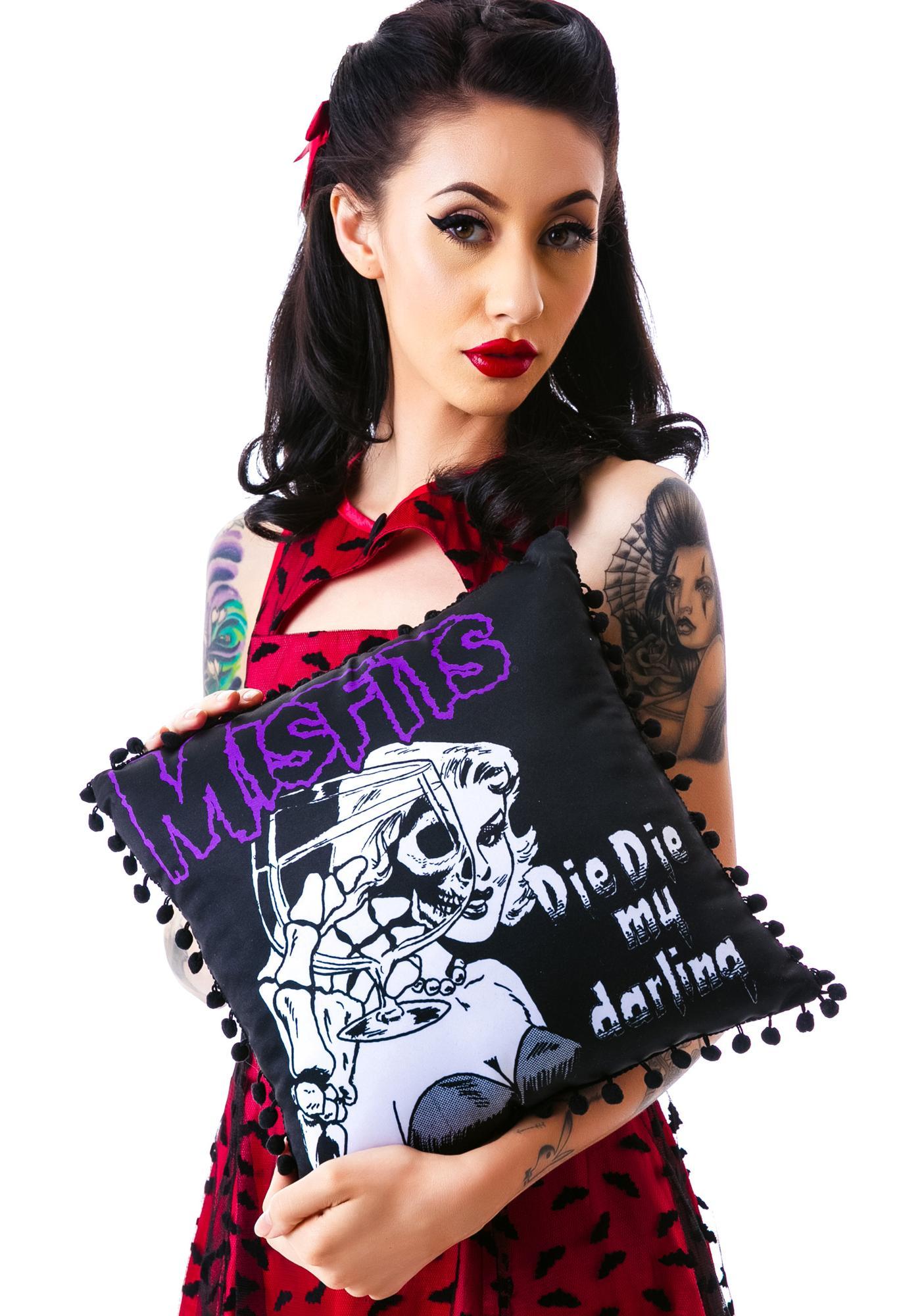 Sourpuss Clothing Misfits Darling Pillow