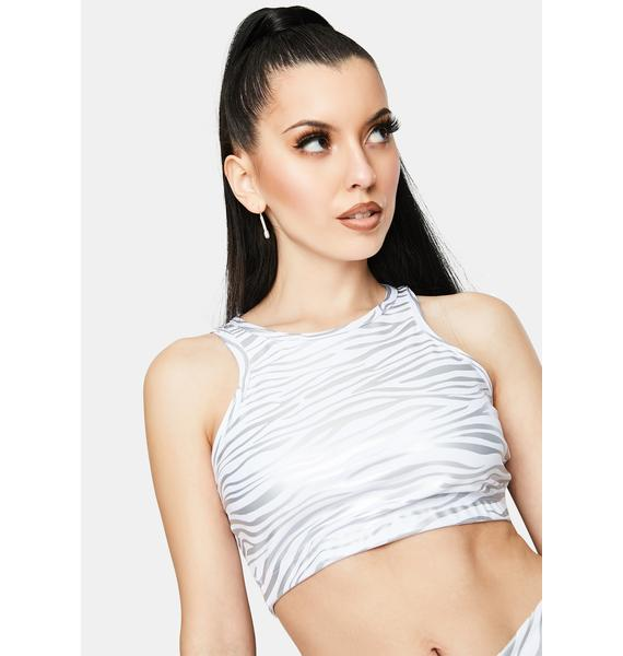 Year Of Ours Tiger Foil Claudia Bra