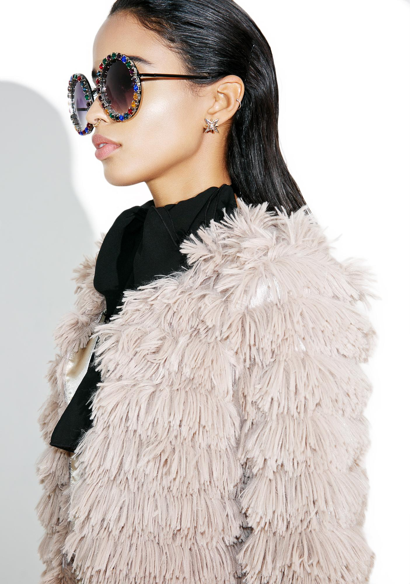 Lyon Shaggy Faux Fur Jacket