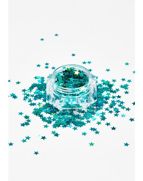 Aquamarine Beam Me Up Star Glitter