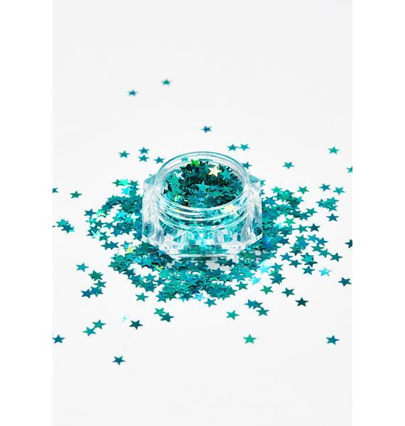Aquamarine Beam Me Up Star Glitter