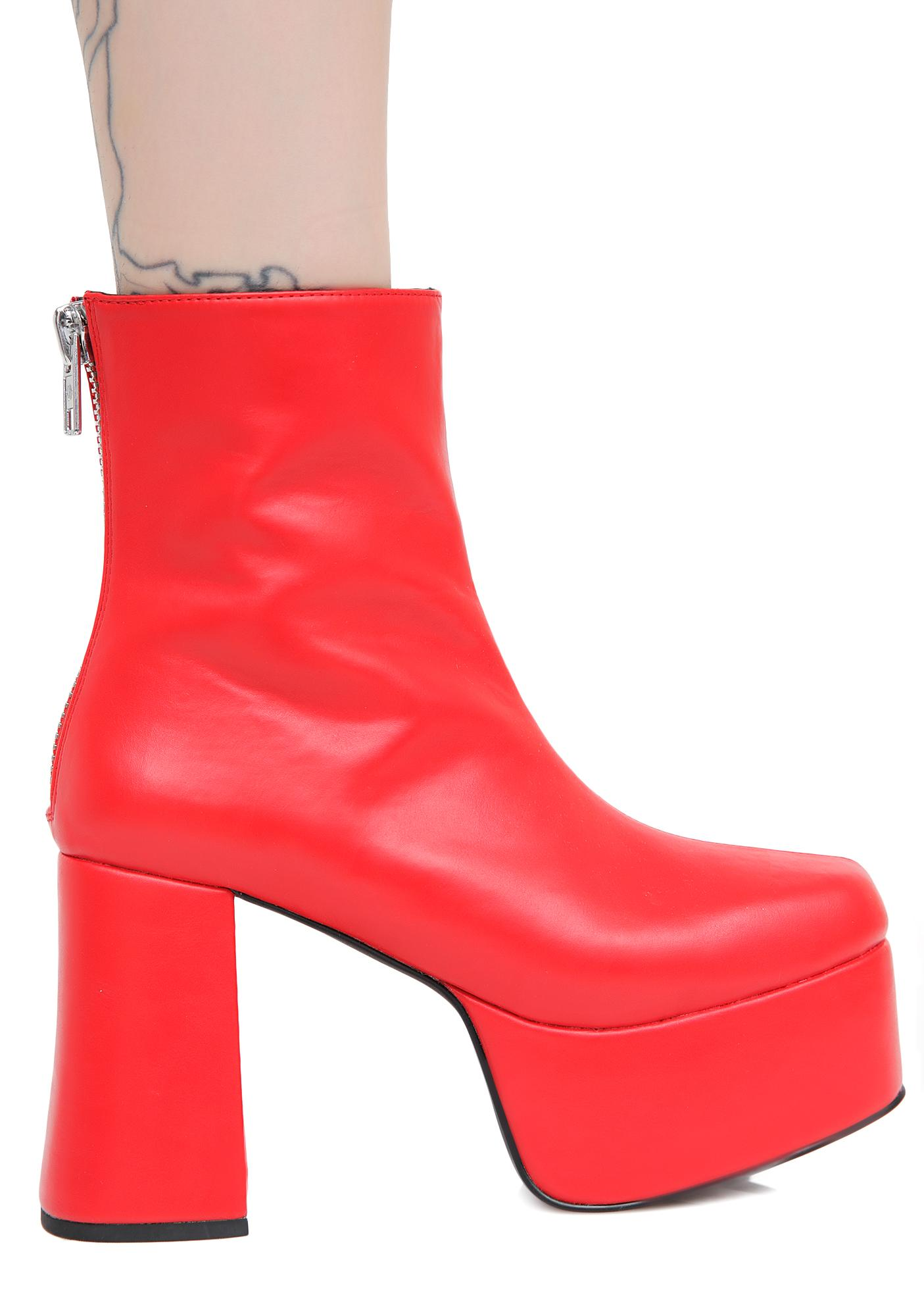 Current Mood Baby's On Fire Platform Booties