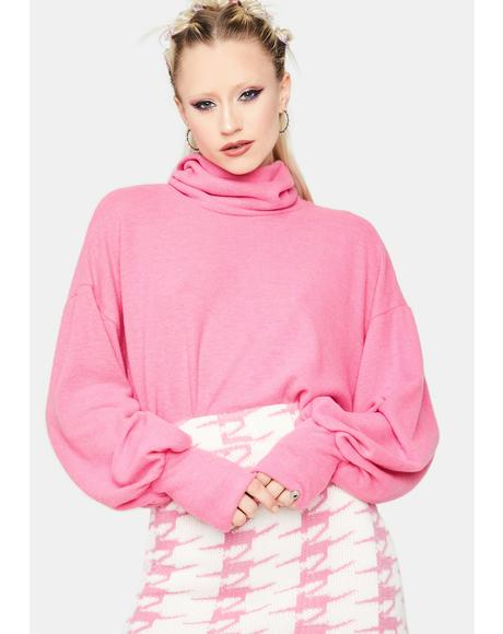 Delicious Diva Turtleneck Crop Sweater