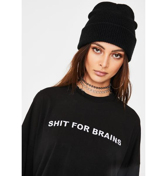 The Ragged Priest Shit For Brains Skater Tee