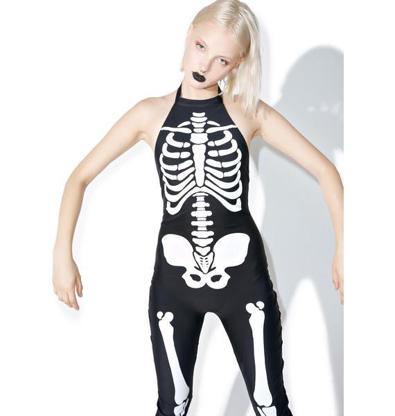Dolls Kill Midnight Bonita Bones Costume