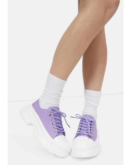 Lavender Public Admirer Sneakers