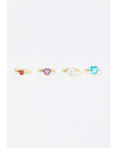 Brightest Lights Jewel Ring Set