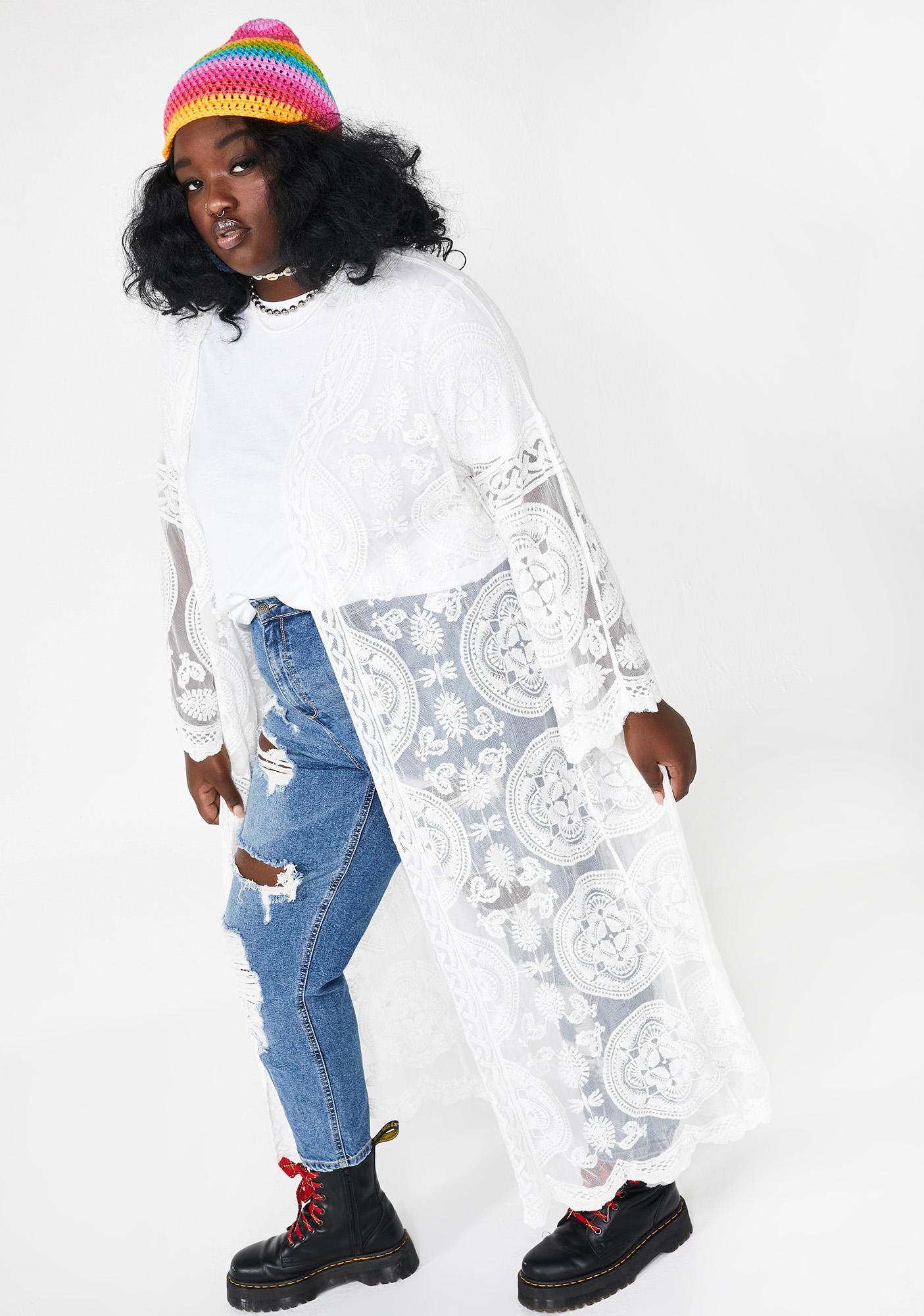 Going Pure Atomic Realm Lace Kimono