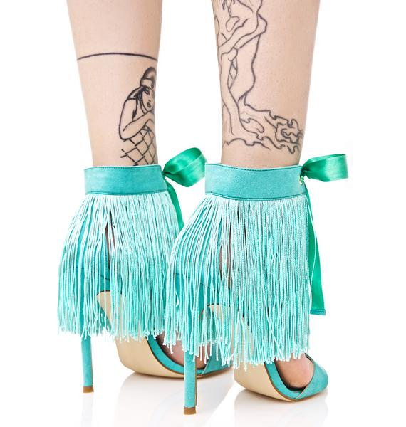 Privileged Mint Francine Fringed Heels
