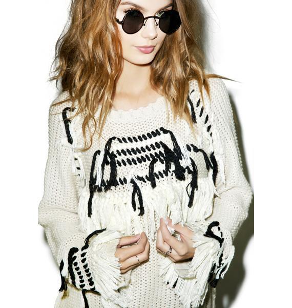 For Love & Lemons Denver Knit Pullover