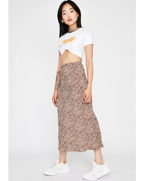 Oh So Catty Satin Skirt