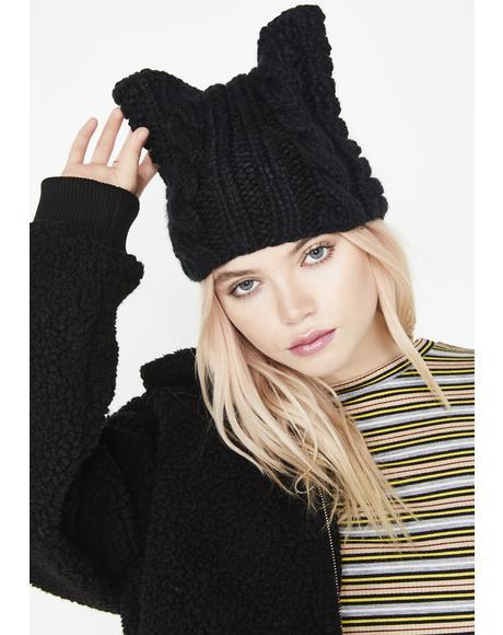 Pussy Grabz Back Knit Beanie