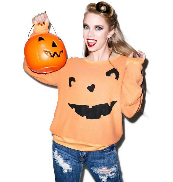 Wildfox Couture Happy As A Pumpkin Baggy Beach Jumper