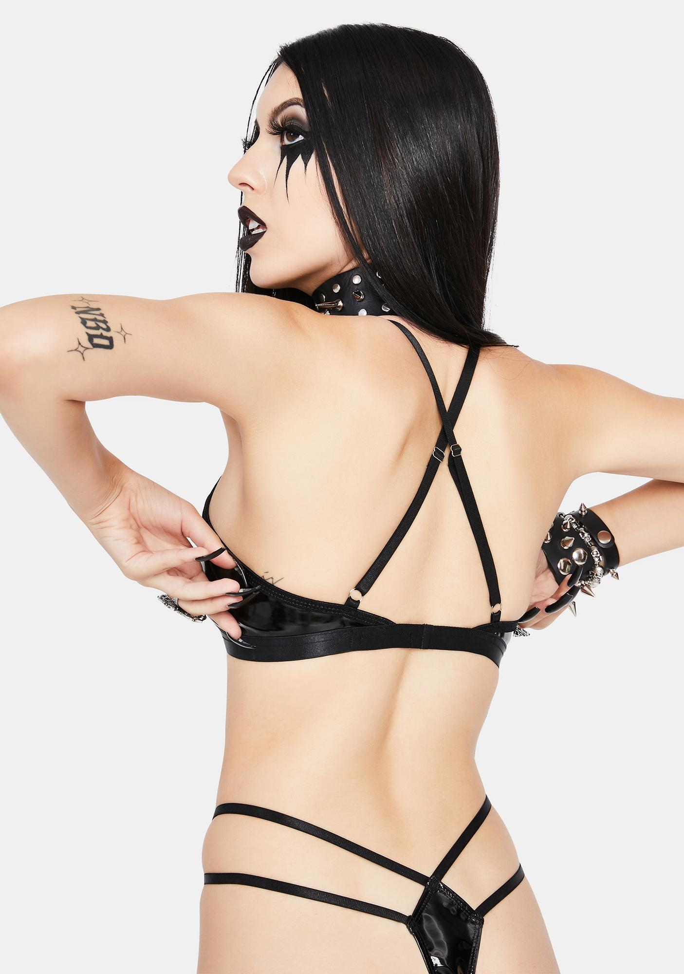Dolls Kill Toxic Traits Lingerie Set