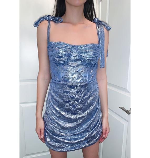 Lioness Blue Senorita Mini Dress